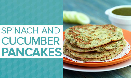 Spinach and Cucumber Pancakes