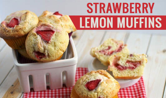 Strawberry- Lemon Muffins
