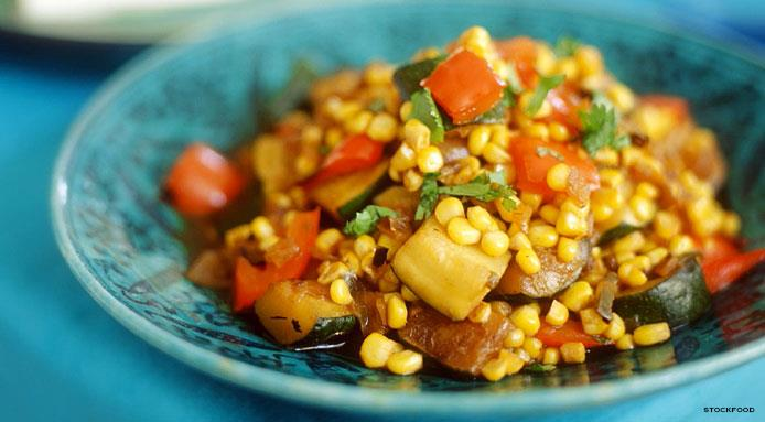 Sweet Corn & Bell Pepper Salad
