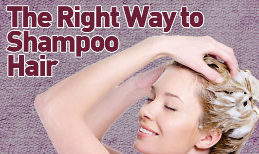 The Right Way to Shampoo Hair