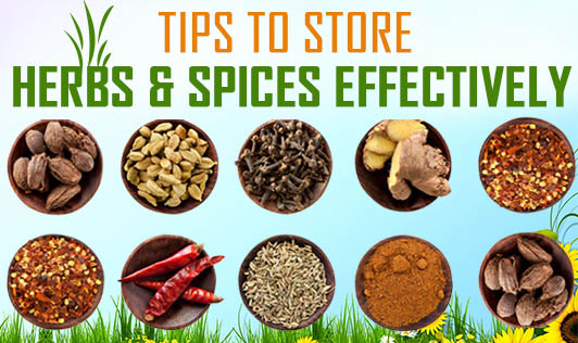 Tips to Store Herbs & Spices Effectively