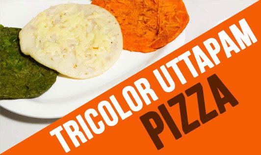 Tricolor Uttapam Pizza