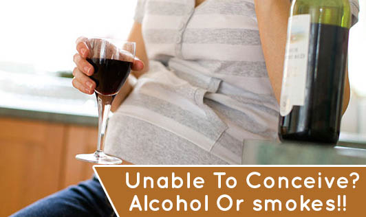Unable To Conceive? Alcohol Or smokes!!