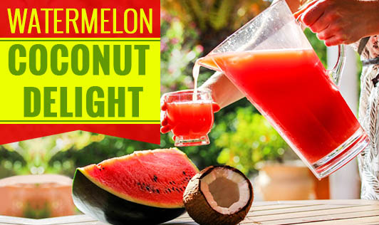 Watermelon coconut delight