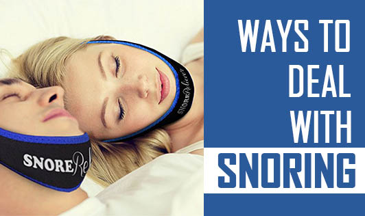 Ways to deal with snoring