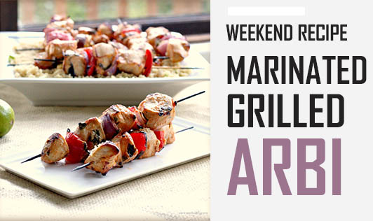 Weekend Recipe - Marinated Grilled Arbi