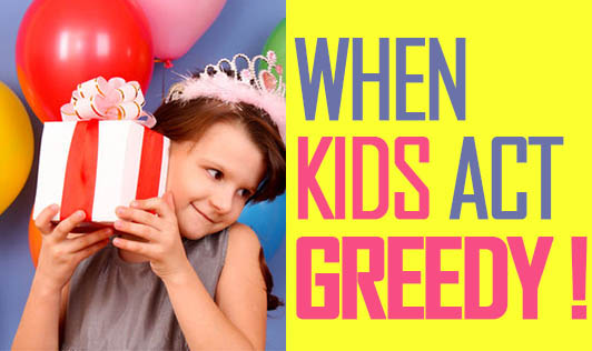 When kids act greedy!