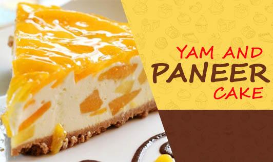 Yam and Paneer cake