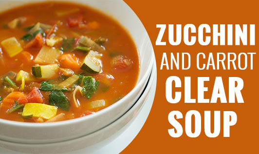 Zucchini and Carrot Clear Soup