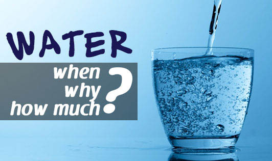 Water - when, why and how much?